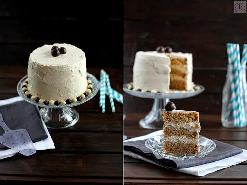 Imagen de la tarta de café con crema de mascarpone por Iratxe Ayala Gallecookies