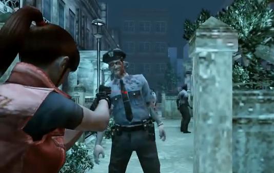 Resident Evil 2 remake Resident Evil 4 style