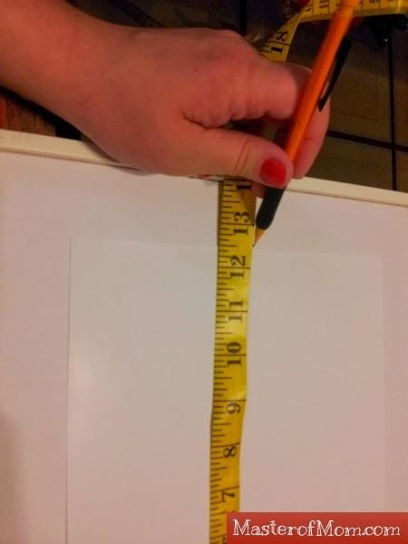 Measuring for picture frames