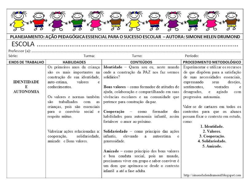 Planejamento Ensino Infantil  Ber  Ario  Maternal  1   E 2   Periodos