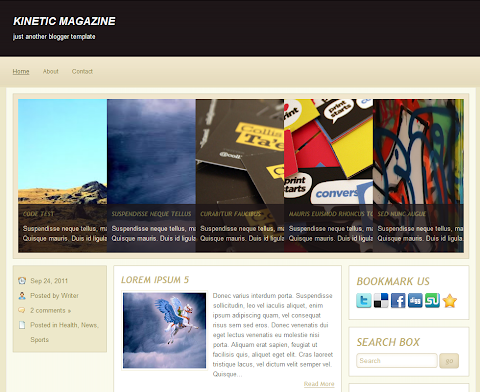 Kinetic Magazine Blogger Theme