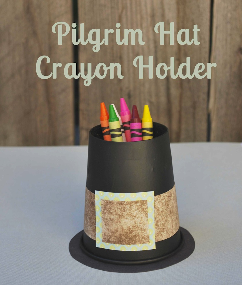 Pilgrim Hat Crayon Holder Cups