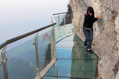 Glass Sidewalk on a Mountain Cliff