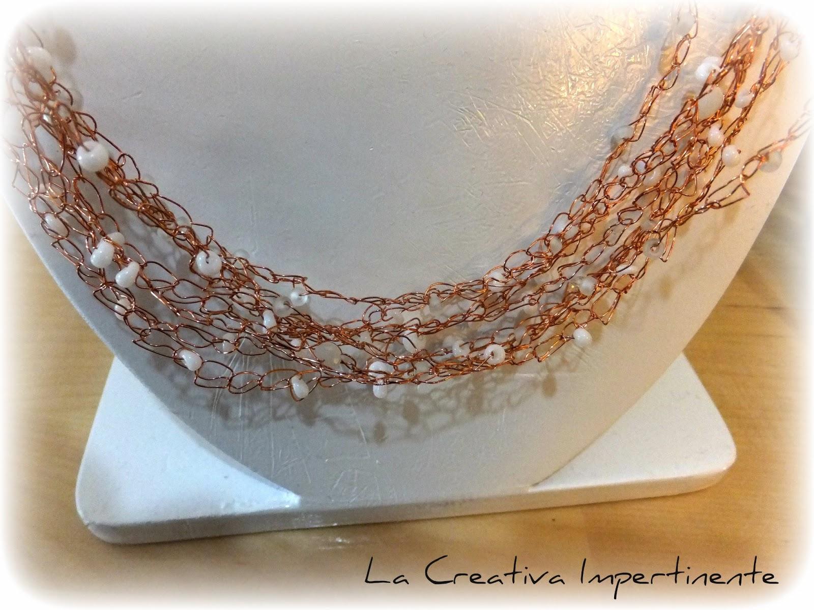 La Creativa Impertinente Tutorial Wire Crochet Collana Groviglio