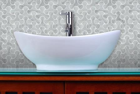 Bubble tile backsplash