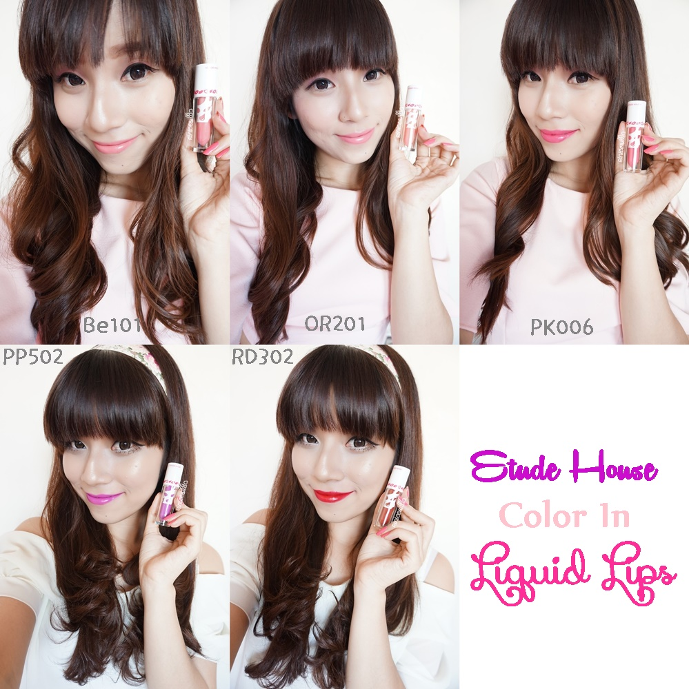 Etude House Color in Liquid Lips Swatches