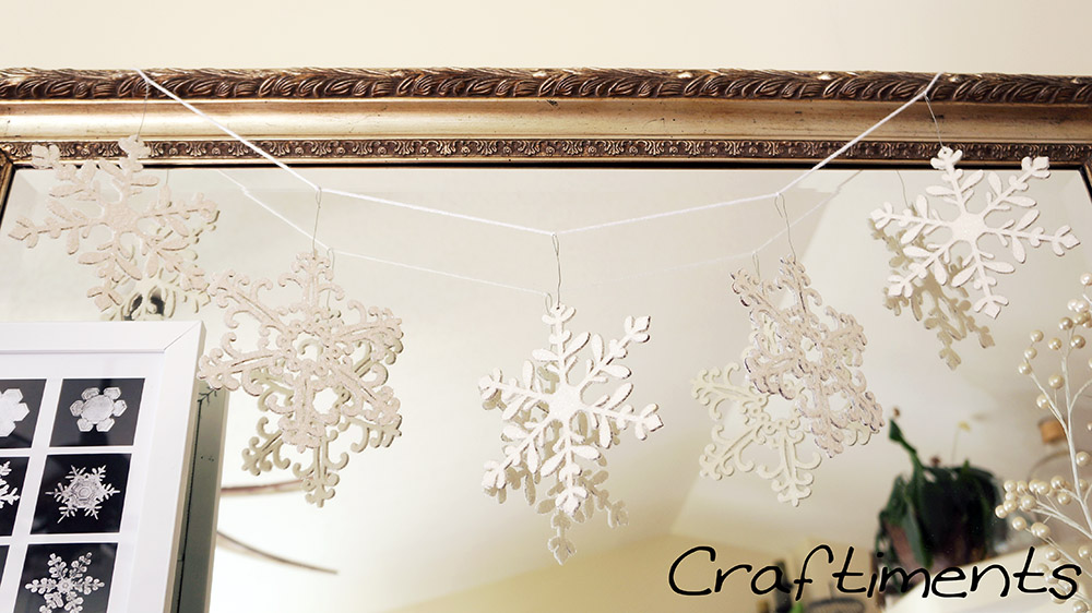 Craftiments:  Snowflake garland