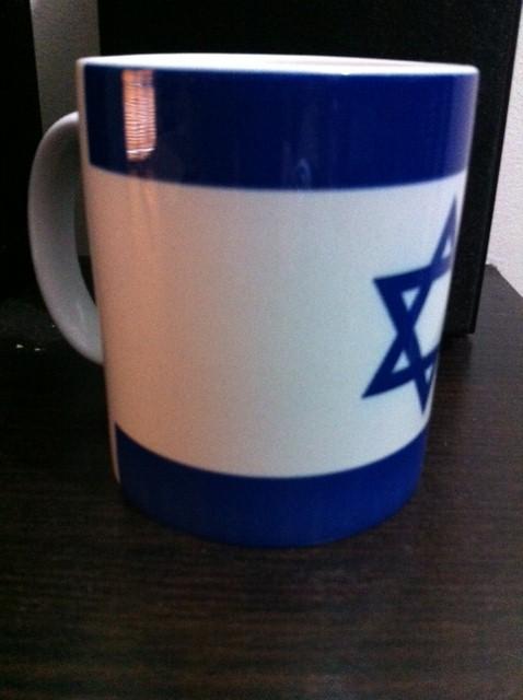 Mugs cerámica Bandera Israel 10 ctms.