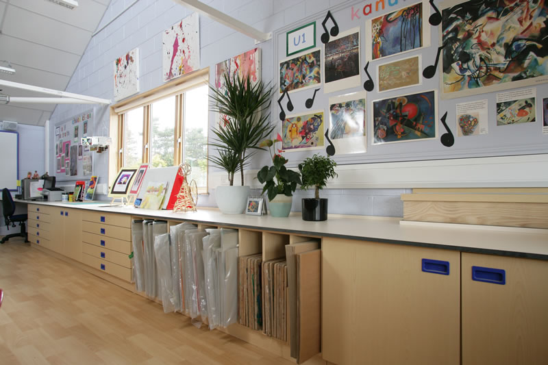 Artworks and beads dream big for Art room decoration school