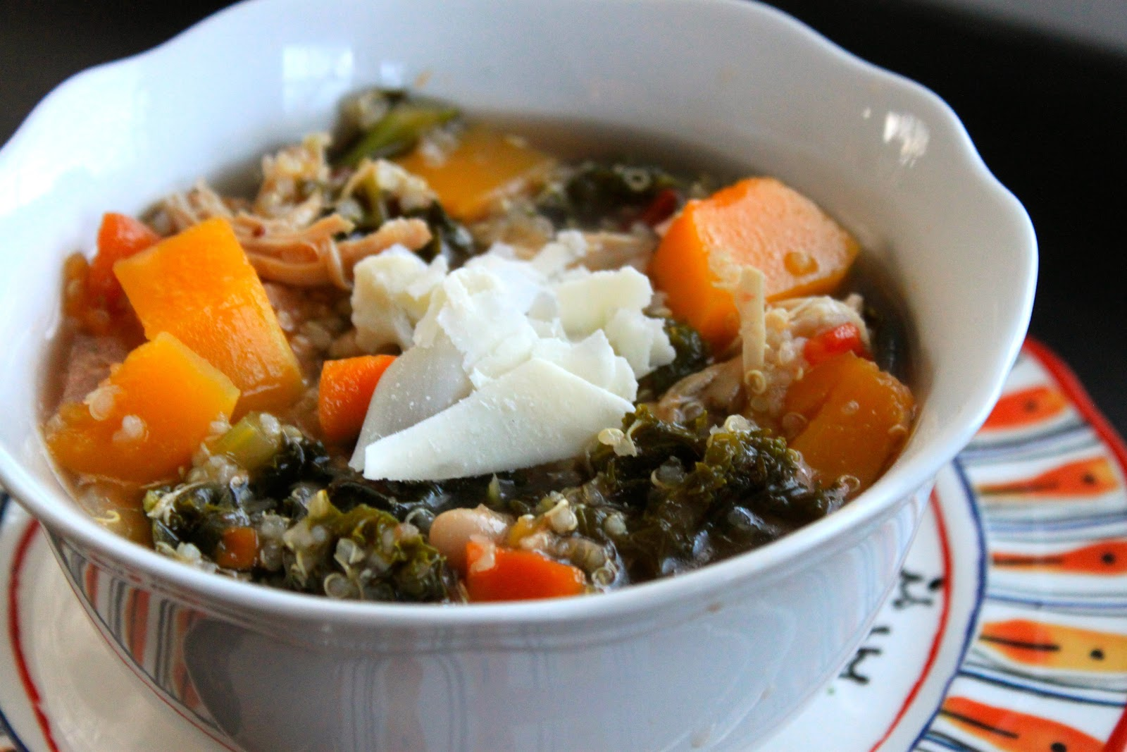 butternut squash, kale, and quinoa soup - greens & chocolate