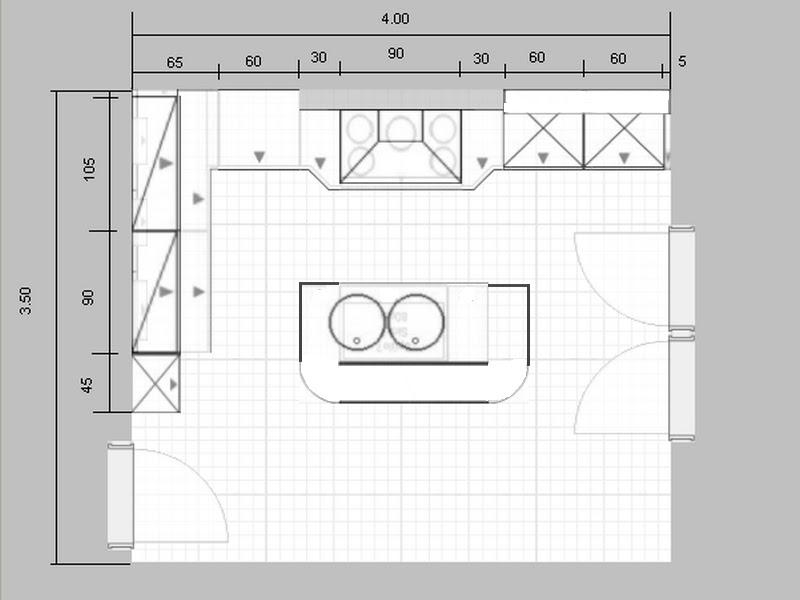Mod le de plan de maison plain pied avec 3 chambres et garage 2 voitures tt - Plan de petite cuisine ...