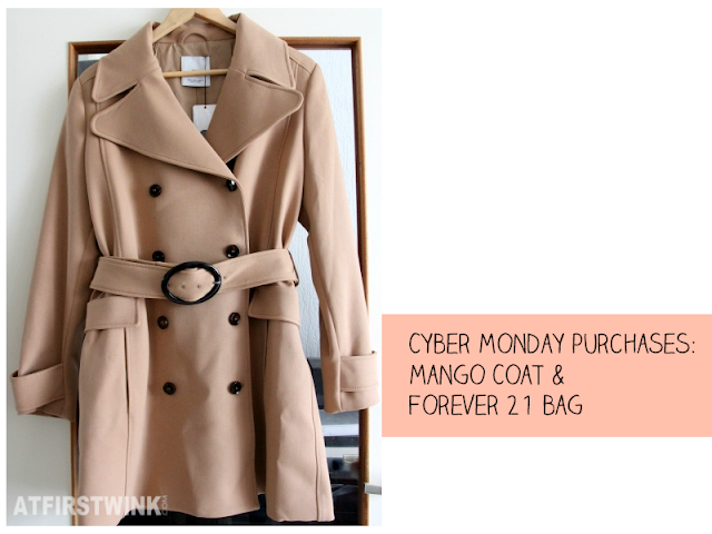 Cyber Monday purchases: Mango dark beige/caramel trench coat