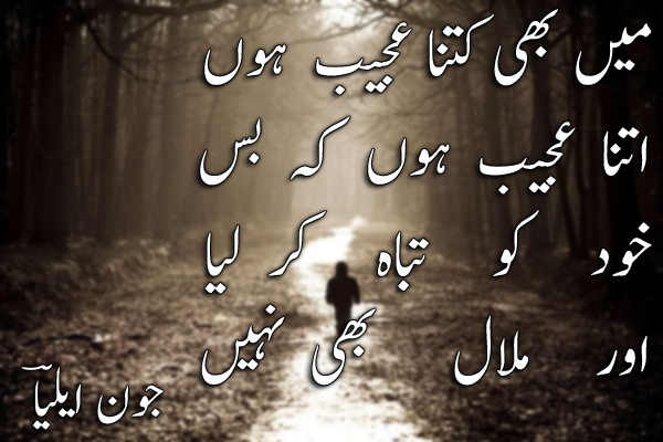 12 Best Designed John Elia 2 Lines Urdu Poetry Images [VOL 1] | All ...