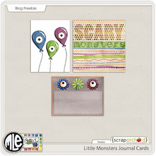 Little Monsters Scrapbook Kit & Freebie
