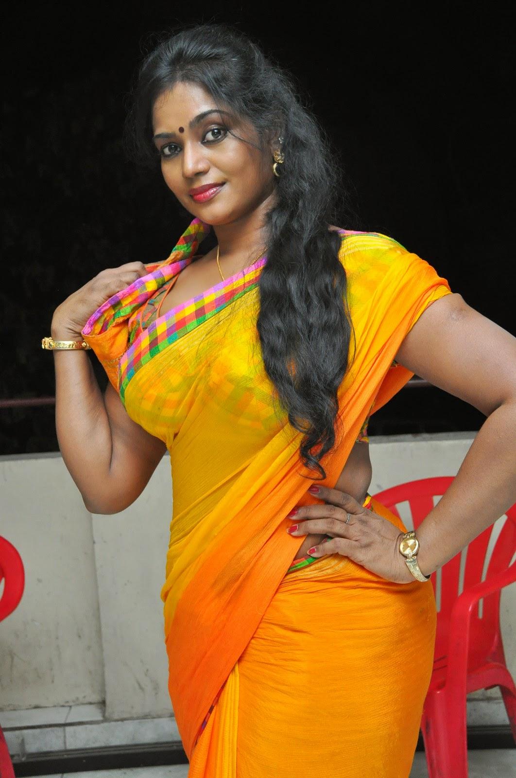 Jayavani glam pics in saree-HQ-Photo-10