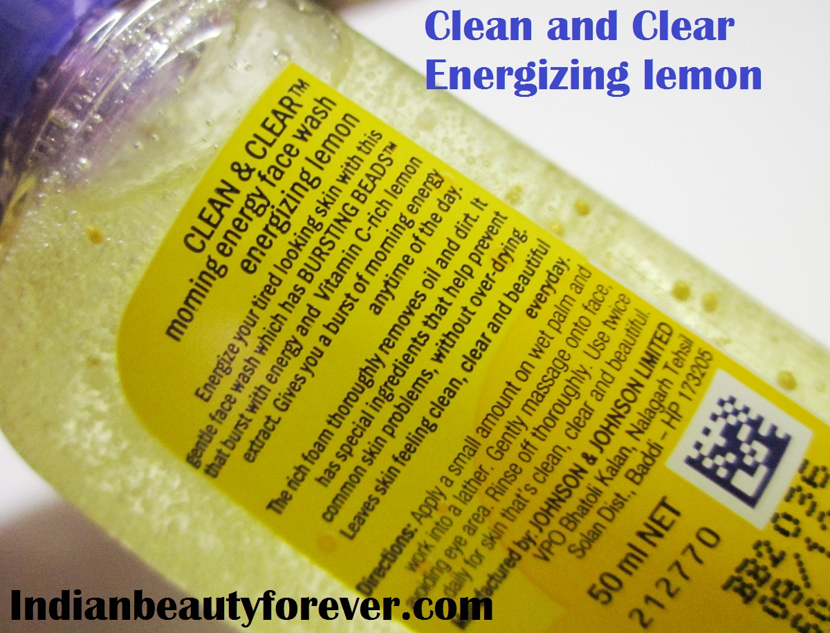 Clean and Clear Energizing Lemon Face Wash Review