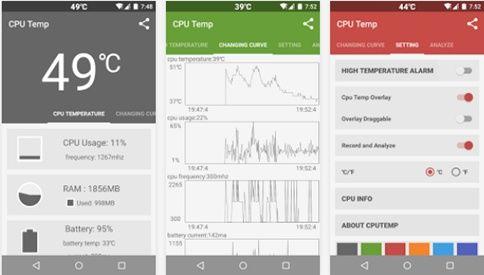 Aplikasi Memonitor Panas CPU Android
