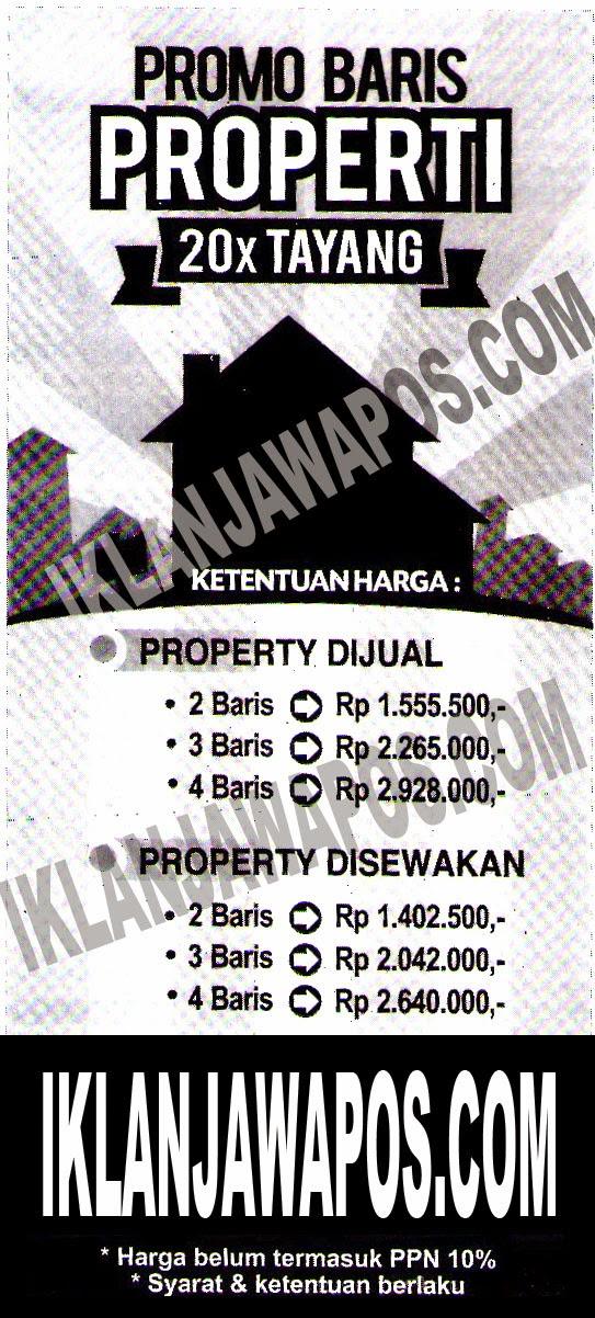 Promo Iklan Baris Jawa Pos Properti 2014