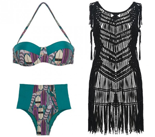 Adriana Barra para C&A biquíni e saída de praia em trico