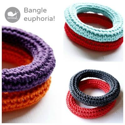 Crochet bangles at caracol handmade