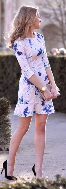 Zara Light Pink Floral Little Dress by Fashion trend