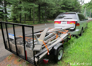 shore station, boat hoist, parts, on trailer, take apart, how to