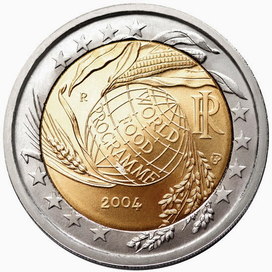 Commemorative 2 euro coins from Italy 2004