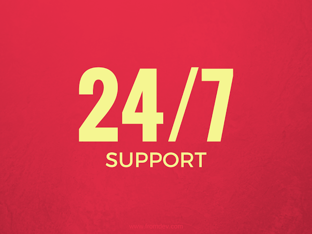 24/7 Tech Support is essential for a good hosting company