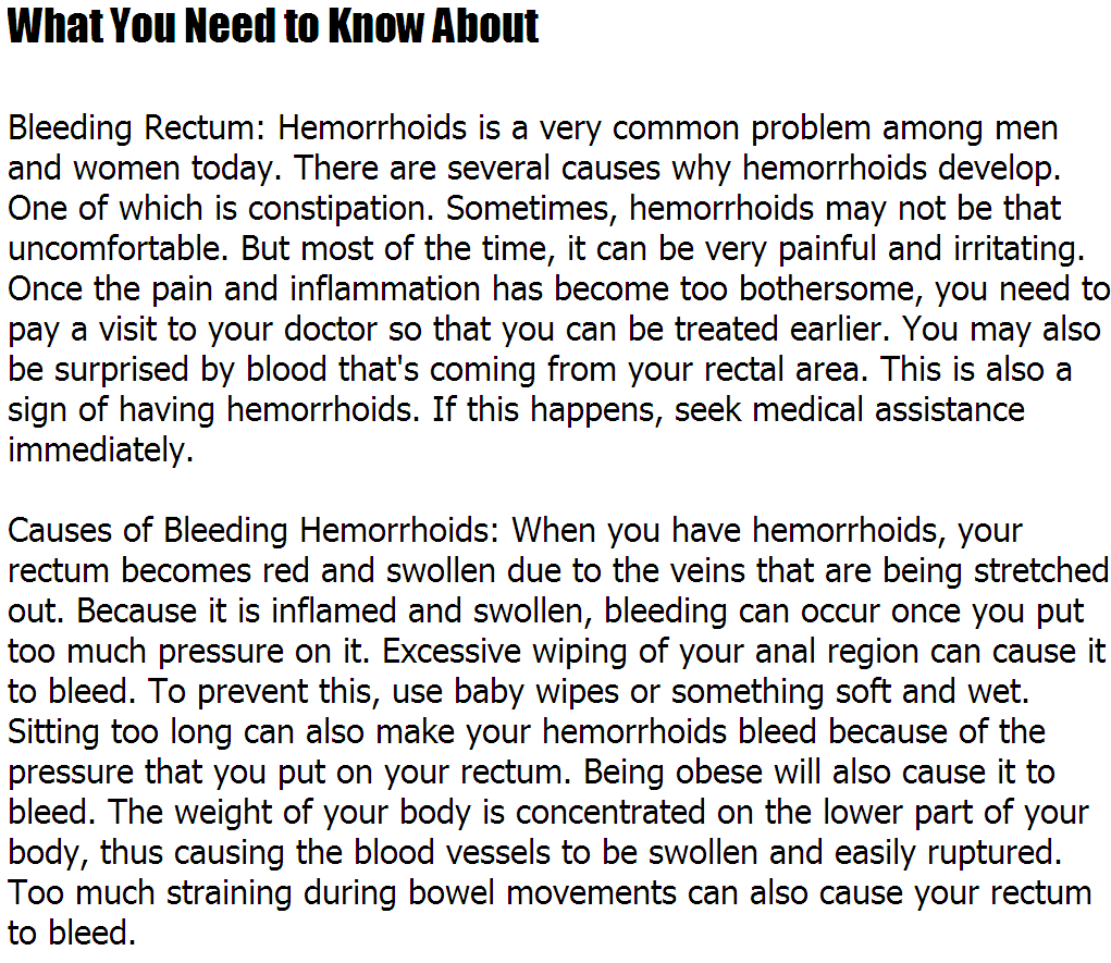 what causes hemorrhoids to bleed | noahauden, Human Body