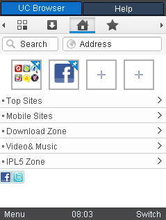 UC browser 8.3  for AirTel Idea Reliance and other operators.