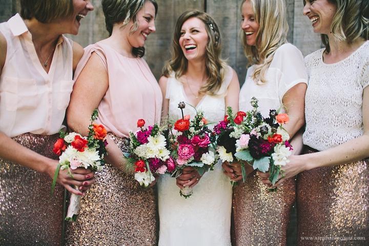 """bride and bridesmaids at Stern Grove"""