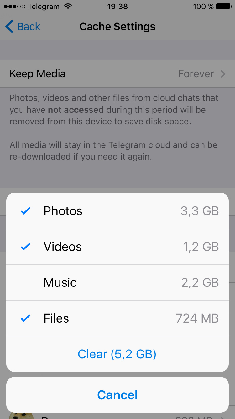 Telegram messenger tips and tricks using the keep media setting you can control how long unused media stays on your device if you havent accessed a file for the specified time biocorpaavc Choice Image