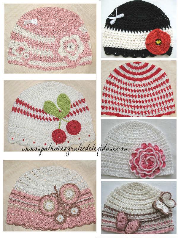 modelos de gorros tejidos al crochet con sobrantes de hilos