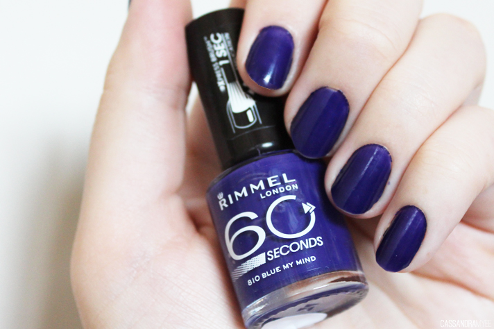 NOTD | Rimmel 60 Seconds Nail Polish in 810 Blue My Mind ...