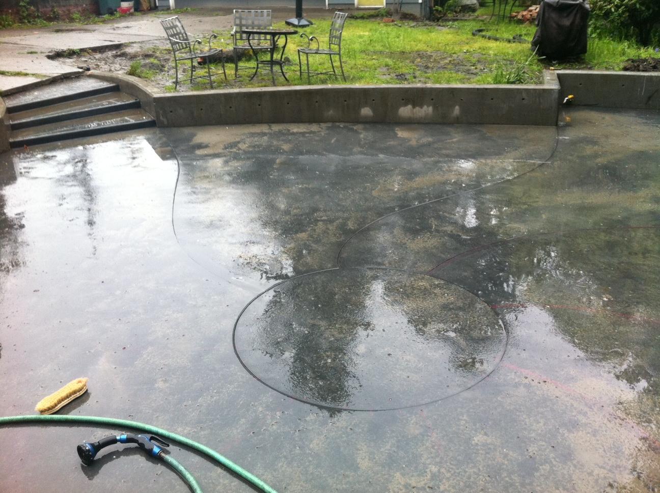 concrete slab patio. Fun With A Concrete Slab Patio T