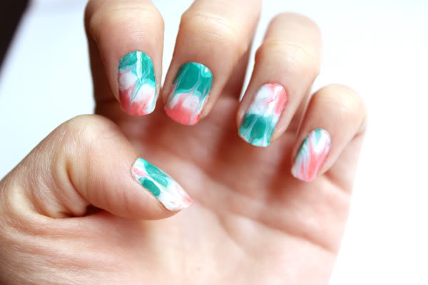 Syl And Sam 240 Tutorial Dry Water Marble Nails