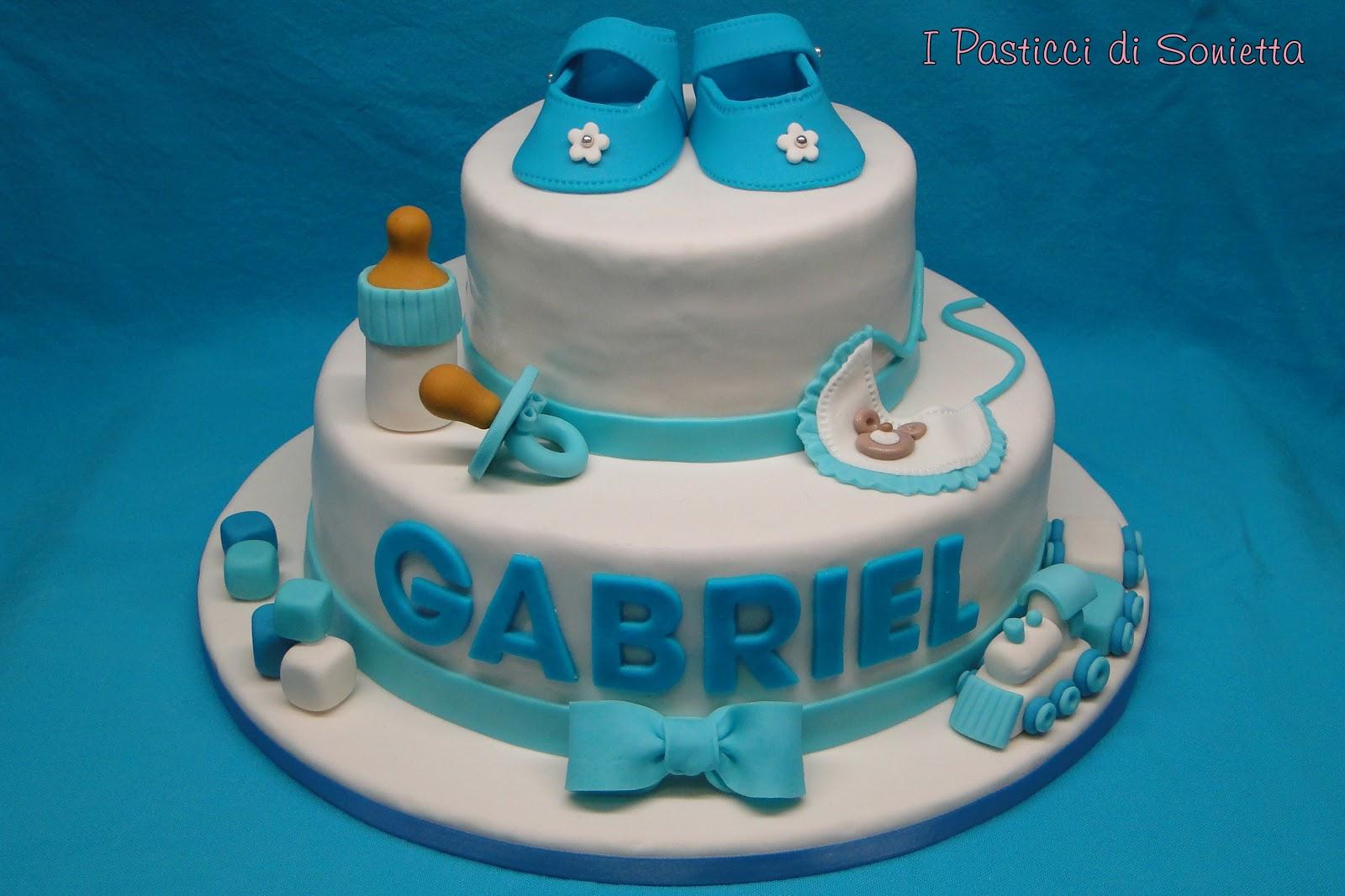 foto de i pasticci di Sonietta: Torta Battesimo Bimbo