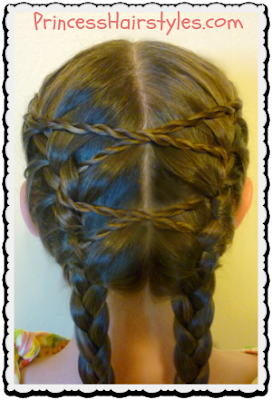 French Braids With Twist Braid Accents Tutorial