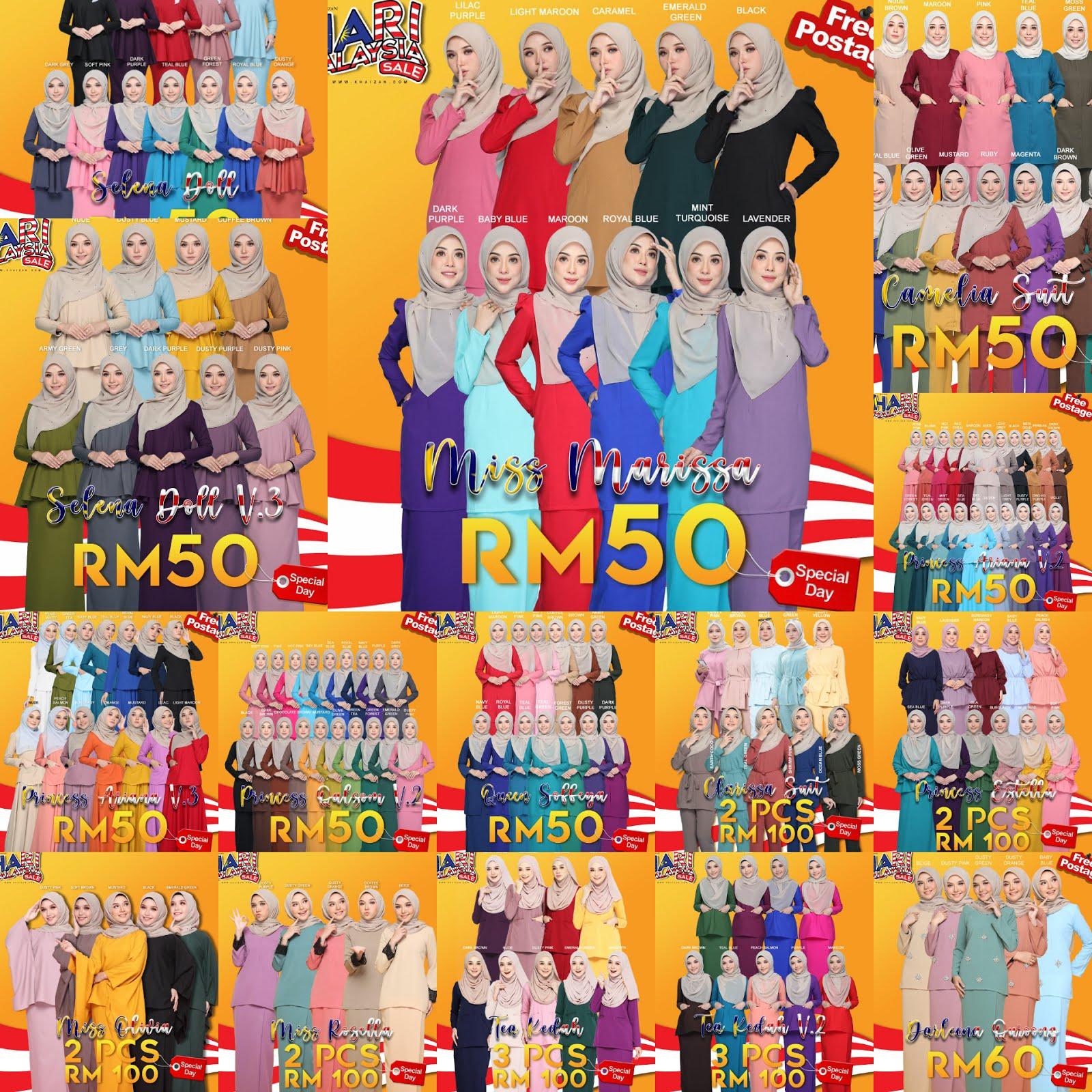 Sale Terlajak Murah Sempena Hari Malaysia. Harini Saja 16 september