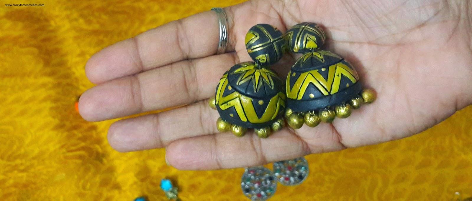 indian traditional jewellery-indian traditional jhumkas-south indian traditional jhumkas-indian traditional gold jhumkas-chand bali earrings- Indian jewelery
