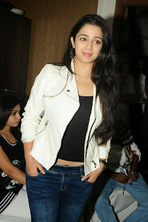 Actress Charmi Kaur Pictures in Jeans at One by Two Movie Celetes 20 Years Event 0120