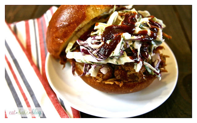 bbq chicken sandwich shredded bar-b-que chicken homemade coleslaw