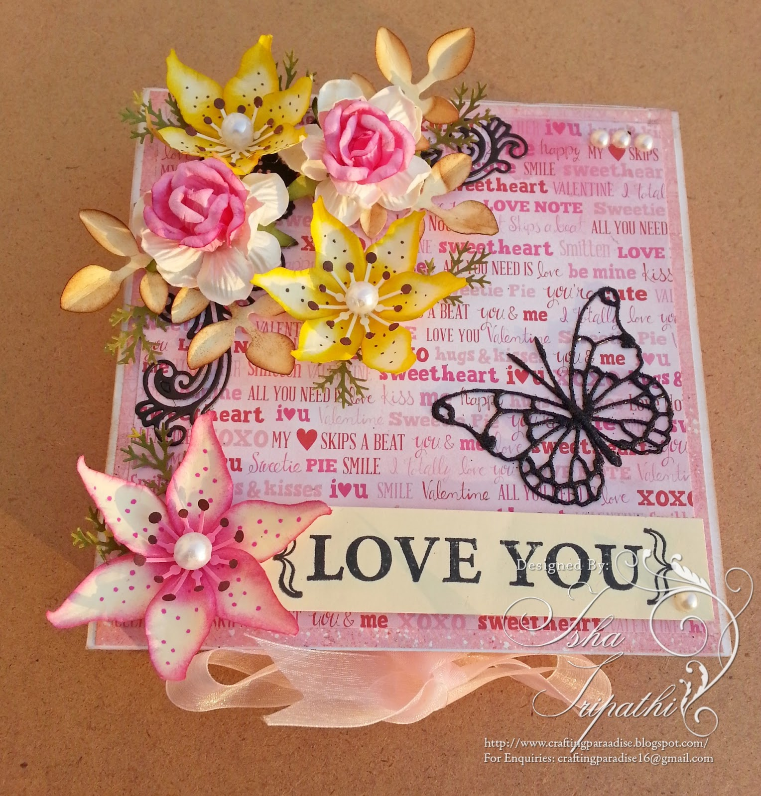 "Handmade Cards For Love Handmade cards !!: ""love is in"