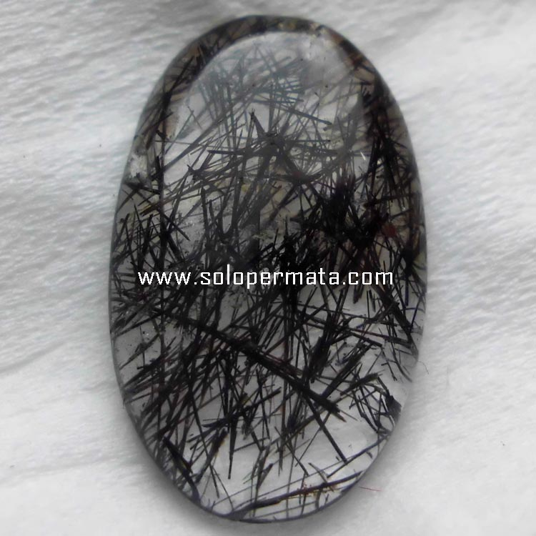 Batu Permata Natural Black Rutile