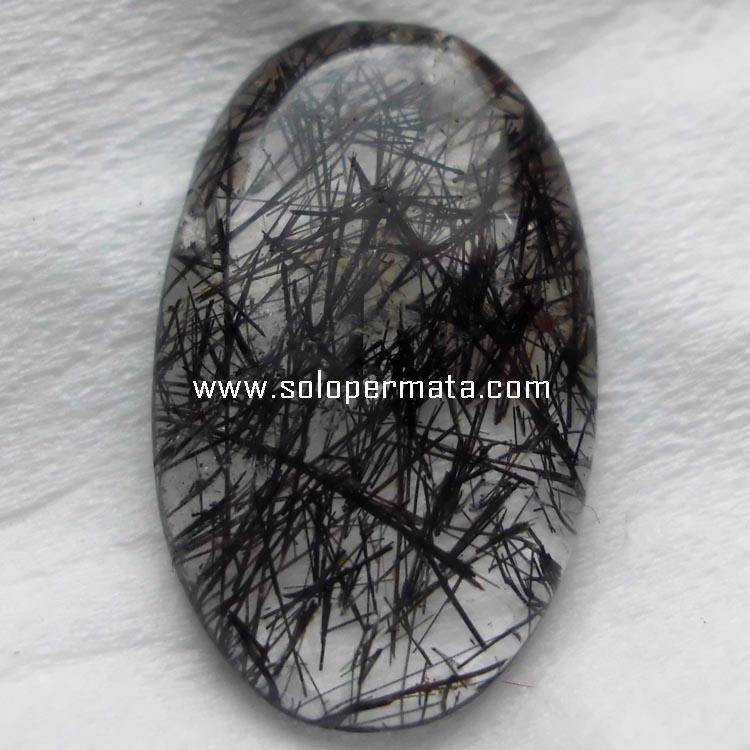 Batu Permata Natural Black Rutile
