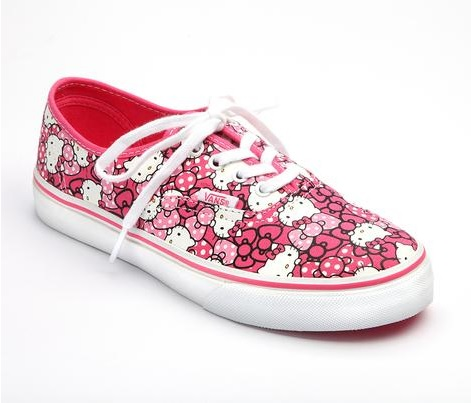 Vintage VANS x Hello Kitty Authentic Hot Pink