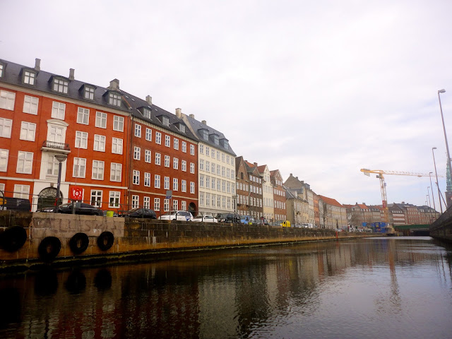 Colourful Danish architecture by the water in Copenhagen, Denmark