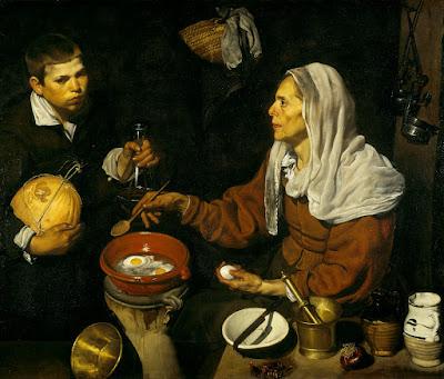tableau velazquez Vieille Femme faisant Frire des Oeufs