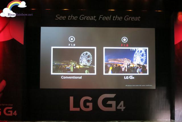 LG G4 aperture
