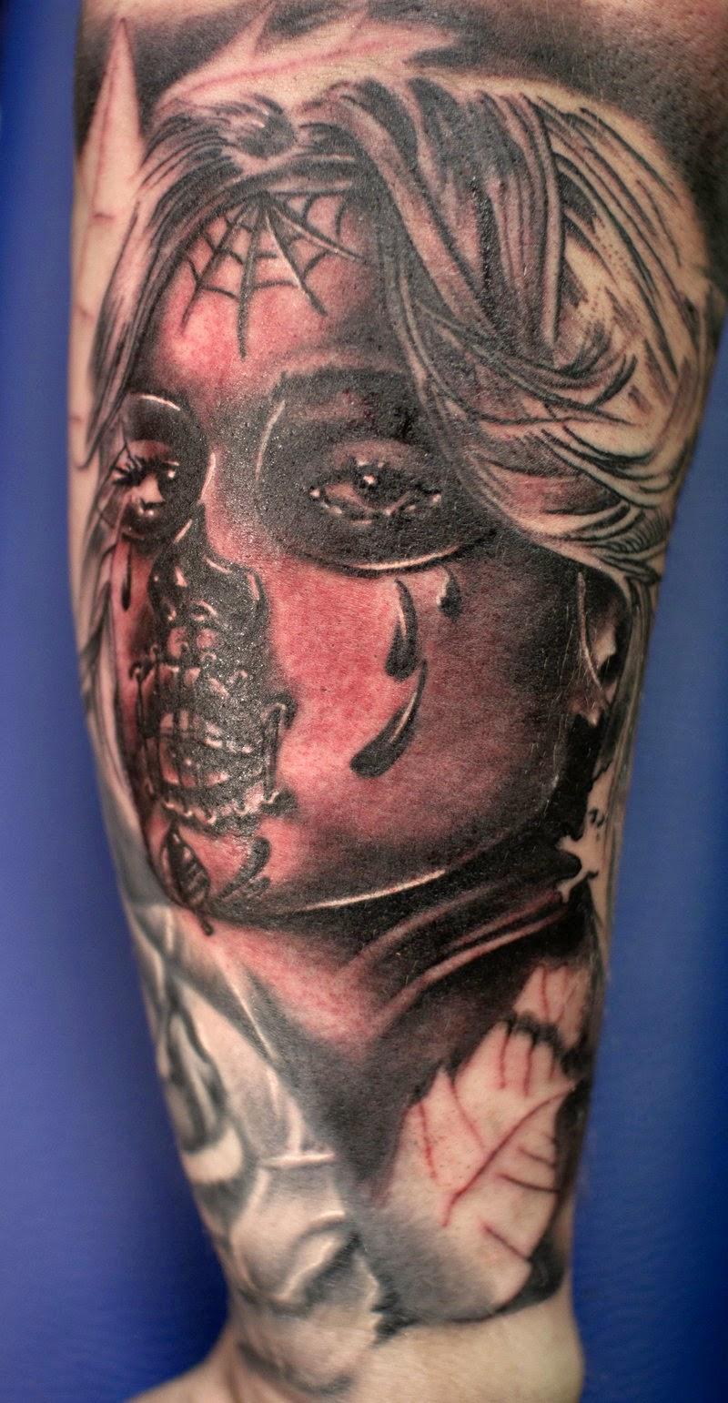 Awesome Catrina Tattoos Idea